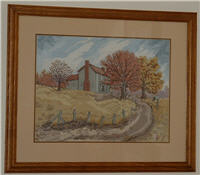 Pattern Autumn at Sinking Creek by Linda Myers' Art of Cross Stitch.