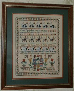 Scarlett house samplers cross stitch pattern 123stitch. Com.