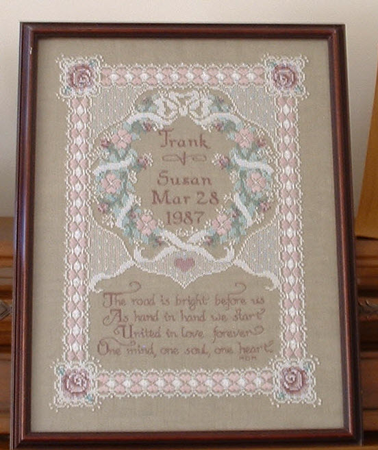 Cross stitch wedding samplers free patterns