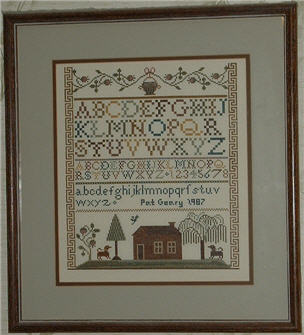 Moira blackburn samplers country house sampler cross stitch.
