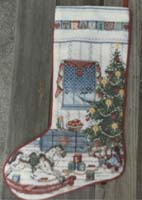Christmas stocking from Cross Stitch & Country Crafts magazine.