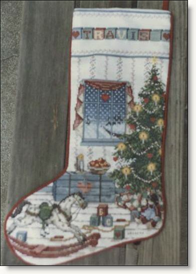 Counted Cross Stitch Christmas Stocking - North Woods Stocking