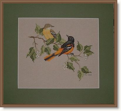 Baltimore Orioles from the Crossed Wing Collection.